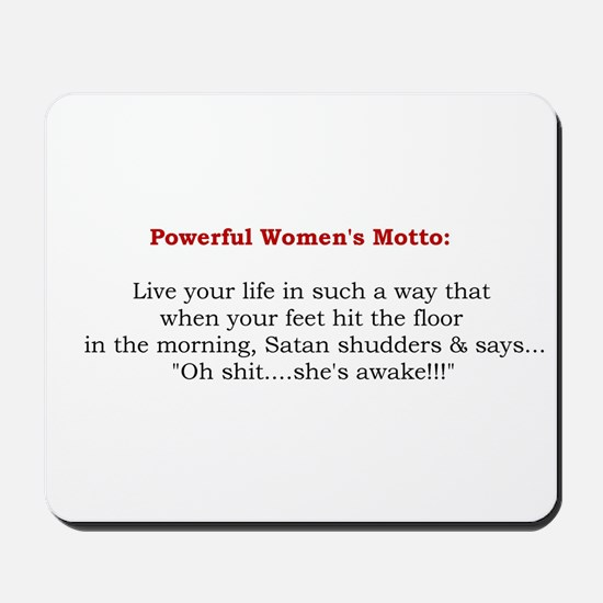 Powerful Women's Motto Mousepad