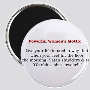 Powerful Women's Motto Magnet