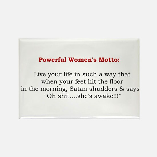 Powerful Women's Motto Rectangle Magnet (10 pack)