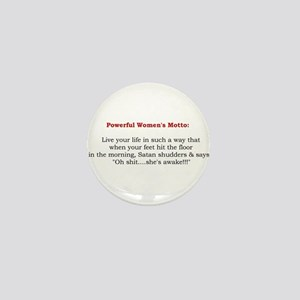 Powerful Women's Motto Mini Button