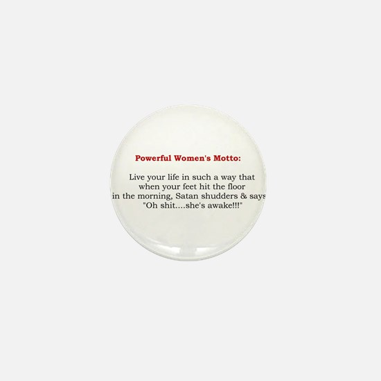 Powerful Women's Motto Mini Button (10 pack)