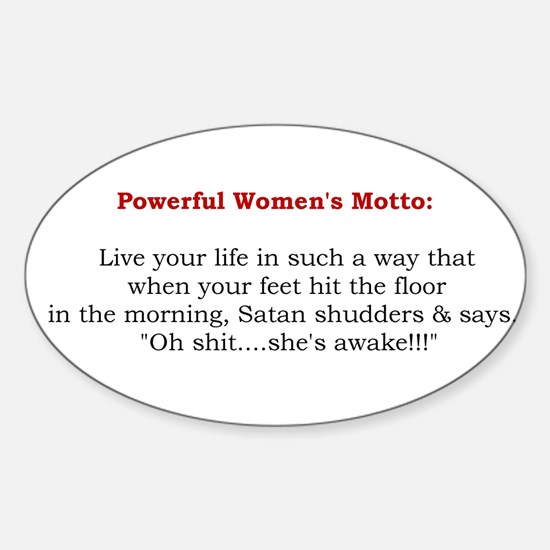 Powerful Women's Motto Oval Decal