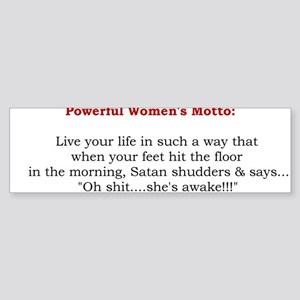 Powerful Women's Motto Bumper Sticker