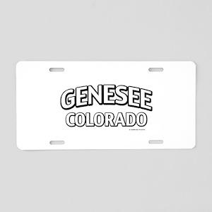 Genesee Colorado Aluminum License Plate