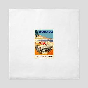 Antique 1936 Monaco Grand Prix Race Poster Queen D