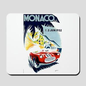 Antique 1952 Monaco Grand Prix Race Poster Mousepa