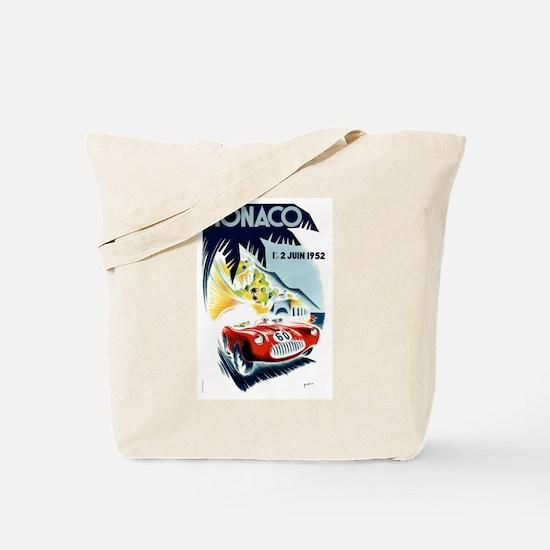 Antique 1952 Monaco Grand Prix Race Poster Tote Ba