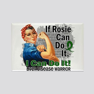 If Rosie Can Do It Liver Disease Rectangle Magnet