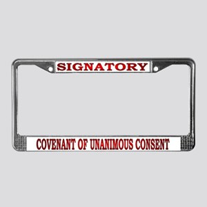 Signatory License Plate Frame