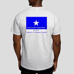 Spanish CUC front-Bonnie Blue bck Ash Grey T-Shirt