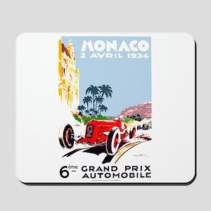 Antique 1934 Monaco Grand Prix Race Poster Mousepa