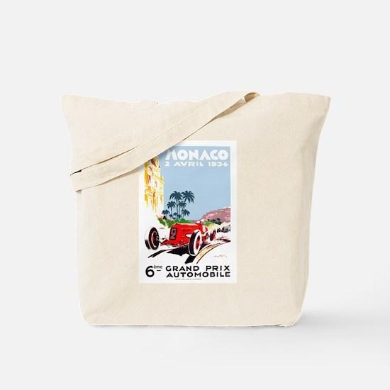 Antique 1934 Monaco Grand Prix Race Poster Tote Ba