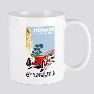 Antique 1934 Monaco Grand Prix Race Poster Mug