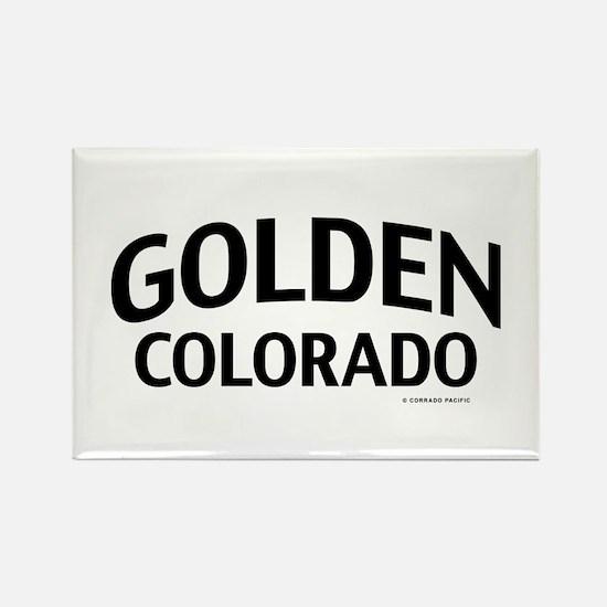 Golden Colorado Rectangle Magnet