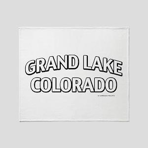 Grand Lake Colorado Throw Blanket