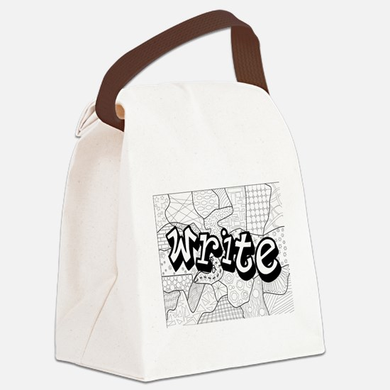 Cute Coloring books Canvas Lunch Bag