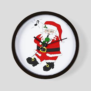 Santa Plays Clarinet Wall Clock