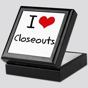 I love Closeouts Keepsake Box
