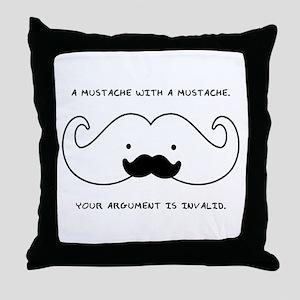 Mustache Mustache Throw Pillow