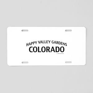 Happy Valley Gardens Colorado Aluminum License Pla