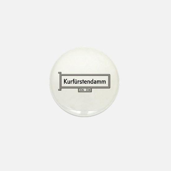 Kurfürstendamm, Berlin - Germany Mini Button