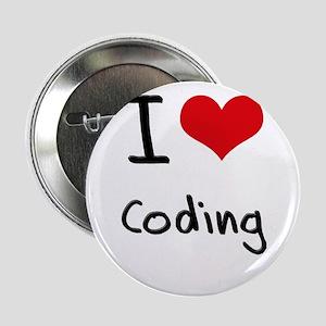 """I love Coding 2.25"""" Button"""