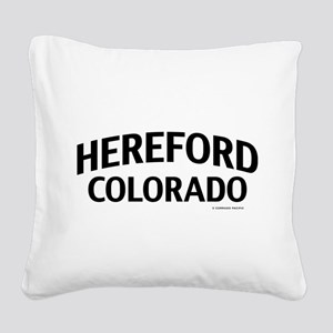 Hereford Colorado Square Canvas Pillow