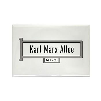 Karl-Marx-Allee, Berlin - Germany Rectangle Magnet
