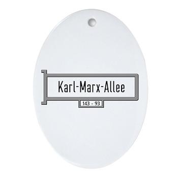 Karl-Marx-Allee, Berlin - Germany Ornament (Oval)