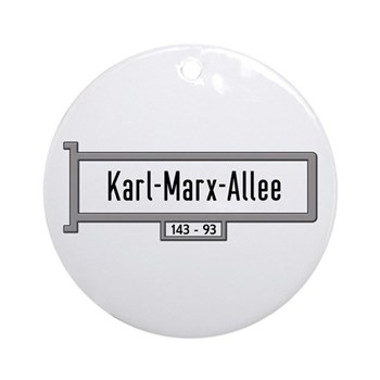 Karl-Marx-Allee, Berlin - Germany Ornament (Round)