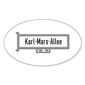 Karl-Marx-Allee, Berlin - Germany Sticker (Oval)