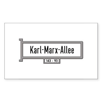Karl-Marx-Allee, Berlin - Germ Sticker (Rectangle)