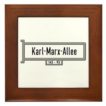 Karl-Marx-Allee, Berlin - Germany Framed Tile