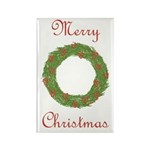 Christmas Wreath Rectangle Magnet (100 pack)