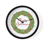 Christmas Wreath Wall Clock
