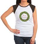 Christmas Wreath Women's Cap Sleeve T-Shirt