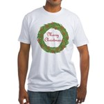 Christmas Wreath Fitted T-Shirt