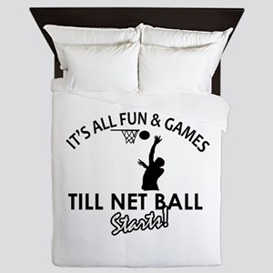 Netball designs Queen Duvet