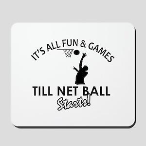 Netball designs Mousepad