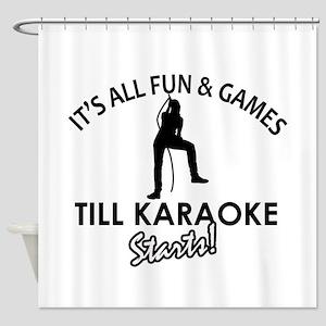 Karaoke designs Shower Curtain