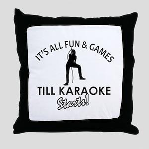 Karaoke designs Throw Pillow