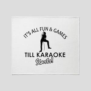 Karaoke designs Throw Blanket
