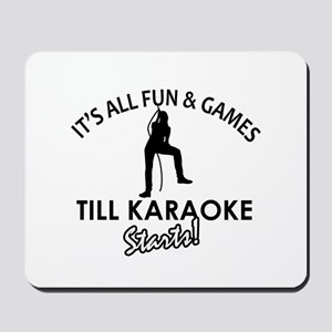 Karaoke designs Mousepad