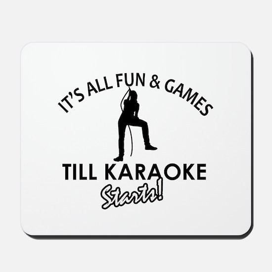 Karaoke designs Mousepad