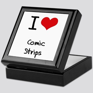 I love Comic Strips Keepsake Box