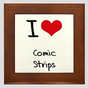 I love Comic Strips Framed Tile