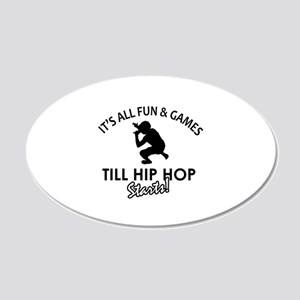 Hip Hop designs 20x12 Oval Wall Decal