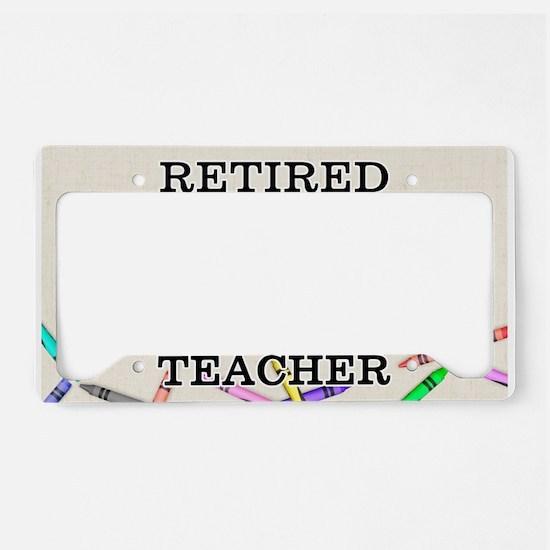 Retired Teacher License Plate Holder