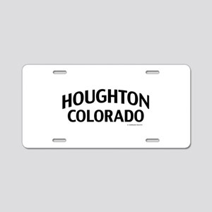 Houghton Colorado Aluminum License Plate