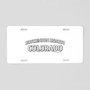 Hutchinson Heights Colorado Aluminum License Plate